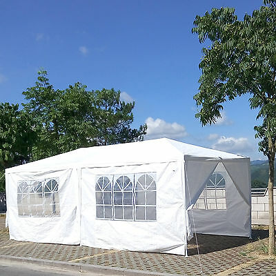 NEW WHITE 3x6M GAZEBO PARTY WEDDING TENT EVENT MARQUEE OUTDOOR PAVILION