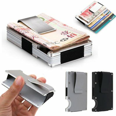 Men Slim Stainless Steel Money Cash Clip Credit Card Holder Pocket Wallet Purse