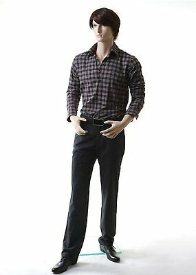 Realistic Male Mannequin, Includes Steel Base & Rods, Made of Fiberglass (grd1)