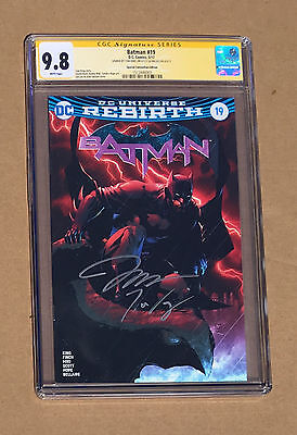 Jim Lee Tom King CGC 9.8 SS signed Batman #19 Fan Expo Exclusive Variant REBIRTH