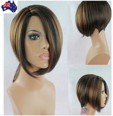 BOBO Pixie Cut Wigs Women Wig Short Straight Natural Synthetic Wig Brown Black