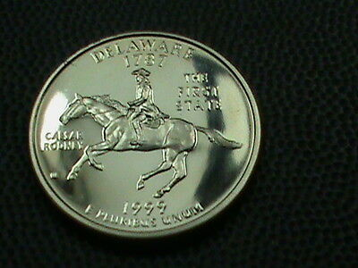 UNITED STATES    25  Cents   1999  -  S   PROOF ,  DELAWARE ,   NO  YELLOW  TONE