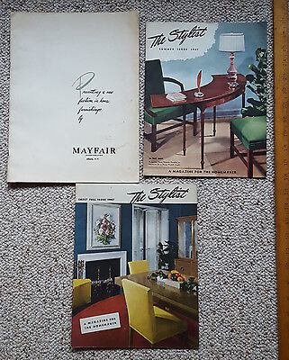 Three Furniture Magazines From Mayfair Furniture N.y. The Stylist 1947
