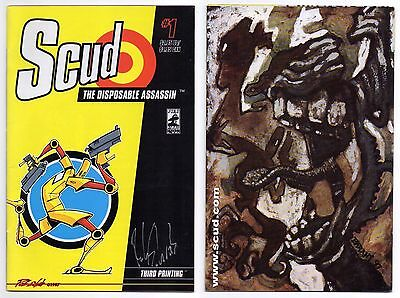 Scud The Disposable Assassin (1994) #1 Signed! 1St Appearance Rare 3Rd Print!
