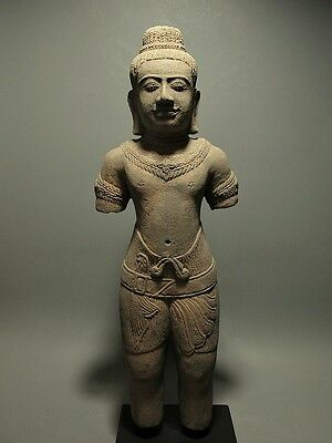 Khmer Sculpture Sandstone Male Figure 'baphuon Style' Cambodia Artifact 11Th C