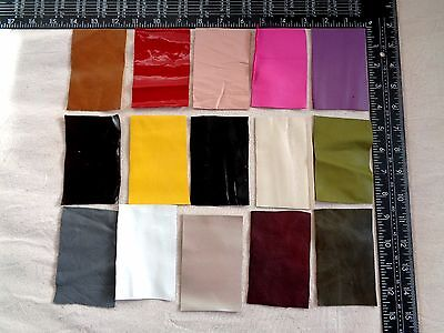 Brand New 15 piece GENUINE LEATHER CUTS for CRAFTS, HOBBIES& SCRAPBOOKING -LotA5
