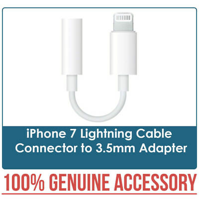 New 100% Genuine iPhone 7 Lightning Cable Connector to 3.5mm Adapter