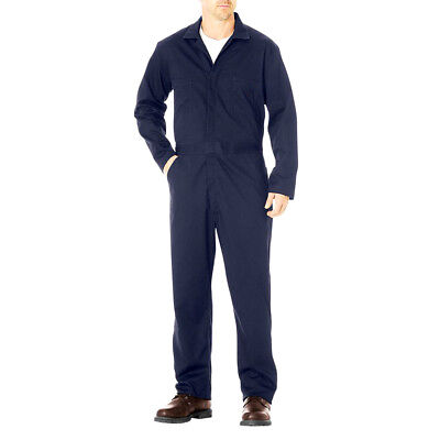Adi Work Wear Safety Mens Cotton Drill Coverall/Jumpsuit Long Sleeve NAVY 85/90S