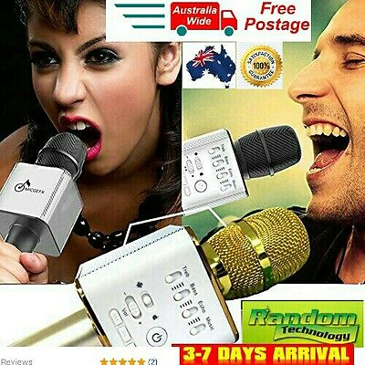Original Q9 Karaoke KTV Wireless Bluetooth Microphone Speaker.