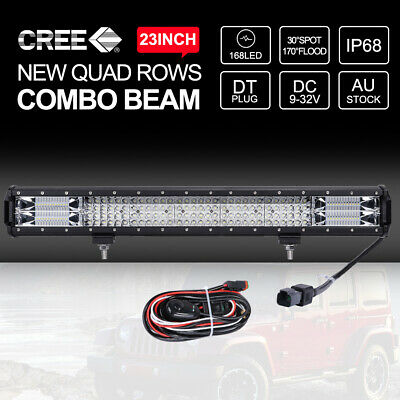9 inch 35800W CREE ROUND LED SPOT Driving Lights Off Road Spotlights BLACK