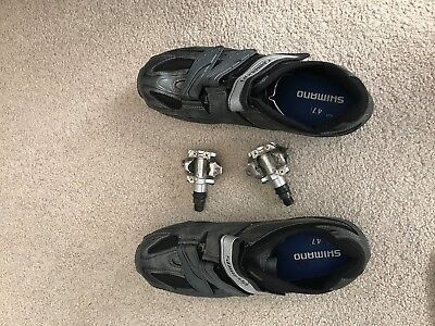 shimano MO77 cycling shoes mountain bike clipless and pedals