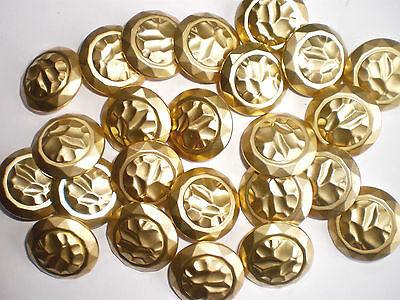 20 ANTIQUE BRUSHED GOLD BUTTONS 25mm