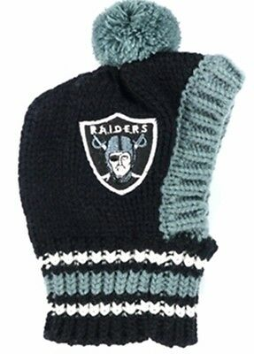 Oakland Raiders  NFL Official Pet Wear Knit Ski Hat for Dogs in Size Small