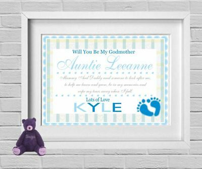 Will You Be My Godmother | Godfather | Godparents | Request Picture Gift (NP185)