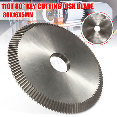 Key Cutting Disk Blade Cutter Lock 110T 80° For Silca Bravo II/III/Ilco/Orion