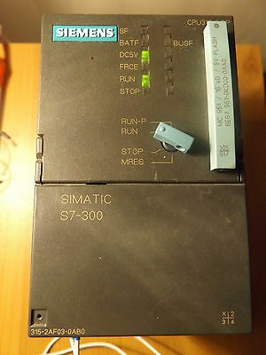 Siemens simatic s7-315 profibus cpu: 6es7 315-2af03-0ab0 with memory card