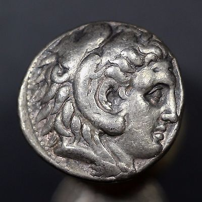 c. 300 B.C. Alexander the Great Ancient Greek Silver Tetradrachm Coin