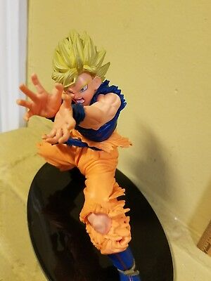 Anime Dragon Ball Z DBZ Super Saiyan Son Goku Kamehameha Figure Statue Used