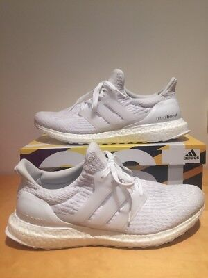 Adidas Ultra Boost 3.0 Triple White Mens Size US11