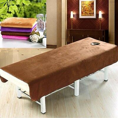 Practical Unisize Massage SPA Treatment Bed Table Elastic Cover Sheet With Hole
