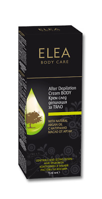NEW ELEA Body Care - After Depilation Cream Body With Natural Argan Oil 75 ml