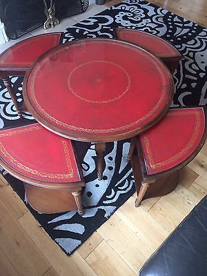 Beautiful Vintage Coffee Table Incorporating Four Smaller Tables