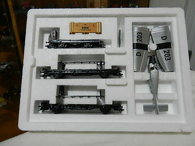 "MARKLIN  ""Junkers F-13 Airplane Transport"" Car Set P/N 45093."