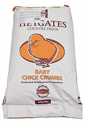 New High Quality Heygates Baby Chick Crumbs With ACS Medicated 20kg
