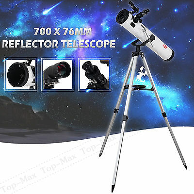TOP-MAX 700x76mm Reflector Telescope SKY WATCHER with Tripod and Eyepieces Gift