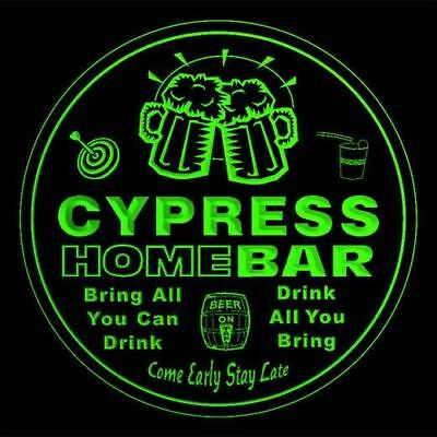 4x ccq09992-g CYPRESS Home Bar Ale Beer Mug 3D Etched Drink Coasters