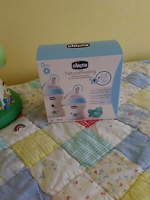 Chicco Natural Feeling Bottle Gift Set Blue, Four boxes available,