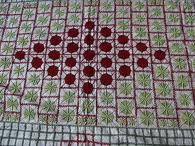antique throw wall hanging handmade patchwork crochet embroidery centre