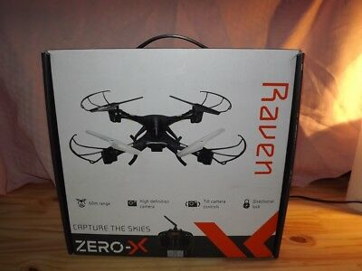 Drone Zero-X Raven+ Controller Robust Lightweight Quadcopter HD Camera 1080p 60M