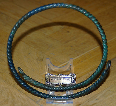 Huge Viking Bronze Neck Torc Torques