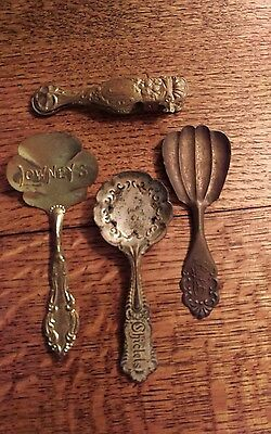 Vintage 1900's Maillards New York City Candy Store Serving Spoons & Tongs