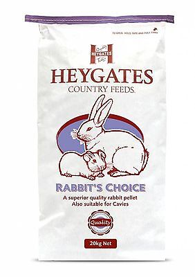 New High Quality Heygates Rabbit Choice Rabbit & Guinea Pig Feed 20kg