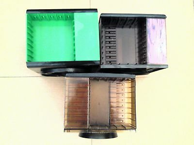3 X Vintage  Rotating Audio Cassette Tape Storage CAROUSELS Holds 20 Tapes