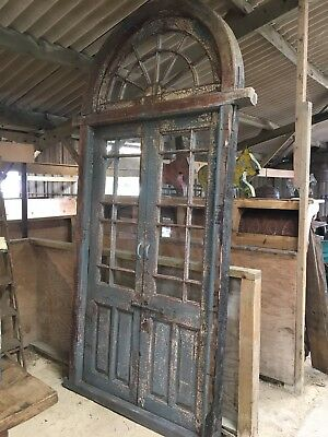 19th Century Arched Fan Top Orangery Doors, Conservatory Doors, Shop Display
