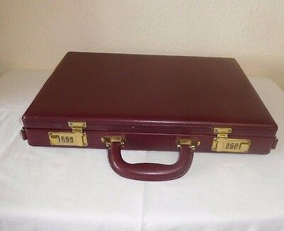 Combination Briefcase 3 Compartments Inside And A Small Mirror On Lid