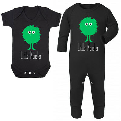 Little Green Monster Baby Grow - Cute Halloween Costume Fancy Dress Vest Up