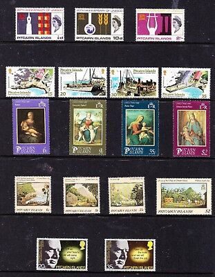 Pitcairn Island stamps - 17 MUH & MH