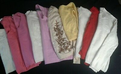 Lot 10 100% Cashmere Sweaters Cutter Upcycle Craft Beaded Pink Ivory Cream 4+ lb