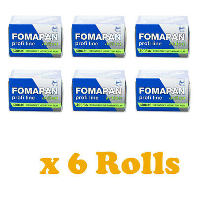 6 Rolls x FOMAPAN 400 Profi Line Action Black & White Film 35mm 36exp by FOMA