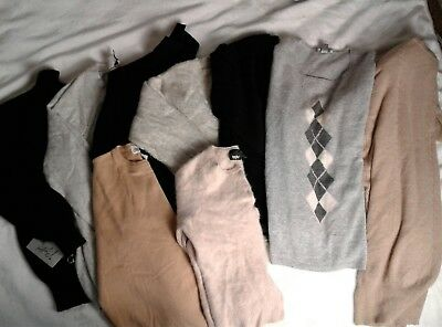 Lot 9 100% Cashmere Scrap Sweaters Upcycle Cutter Craft Neutral Black Tan 4+ Lbs