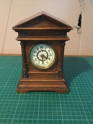Vintage Mantel Clock Case with HAC part movement (for repair and restoration)