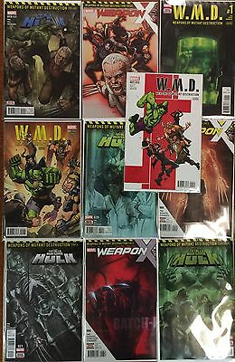 Weapons of Mutant Destruction set - Totally Awesome Hulk #22  Marvel 1st Batch H