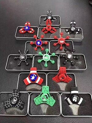 15pcs/lot Super Hero Fidget Hand Spinner Spiderman Ironman Finger Toys Kids#2