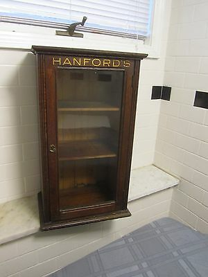ANTIQUE STORE COUNTER PHARMACEUTICAL DISPLAY CABINET (rare)