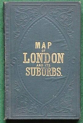 Reynolds's New Map of London and its Suburbs - Forty Section Colour Map, 1884