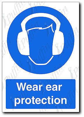 Wear Ear Protection Safety Sign - rigid A4